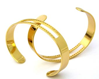 Centerline Gold Plated Adjustable Bracelet Cuffs Package Of 2