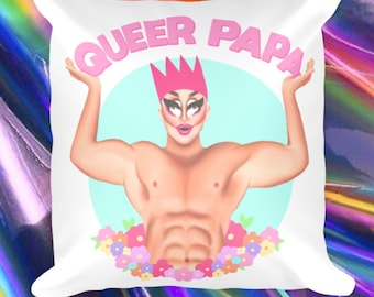 Queer Papa Square Pillow