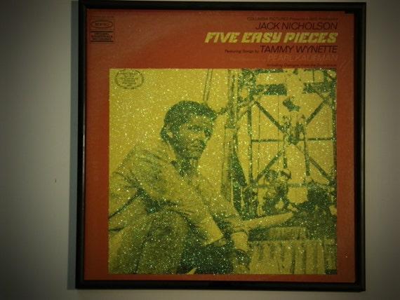 Glittered Record Album - Five Easy Pieces Soundtrack