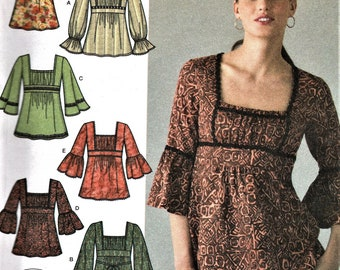 Simplicity 4022     Misses Tunic with Sleeve and Trim Variations       Size 4-12     UNCUT