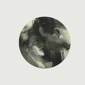 """Jack Parsons and Marjorie Cameron power couple variant  custom 1.25"""" pin"""