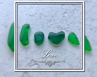 Real Glass word * love * in green