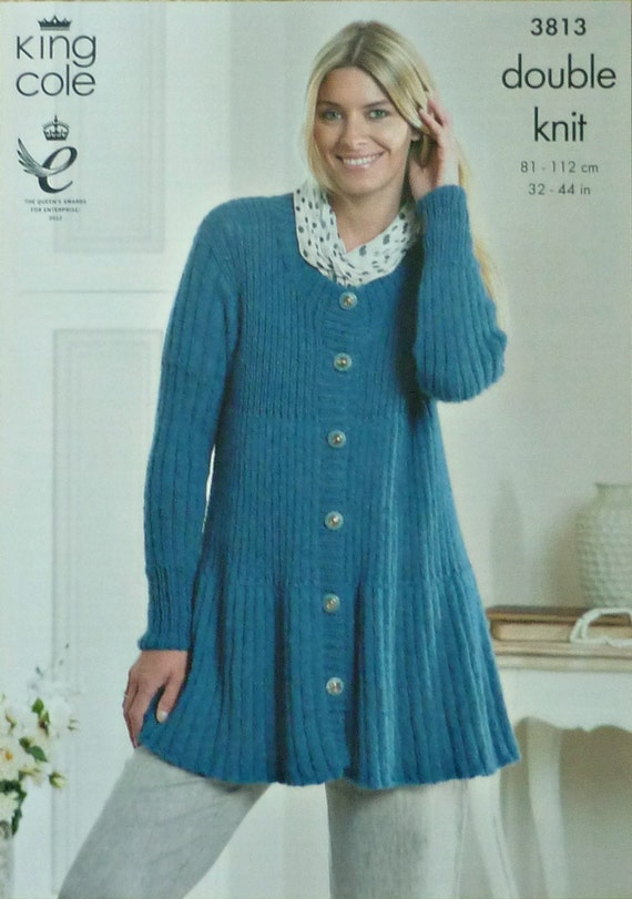 Womens Knitting Pattern K3813 Ladies Long Sleeve Sccop Neck