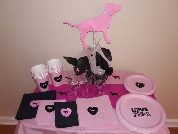 & Pink Napkins Victoria Secret Pink Napkins Pink Plates Pink