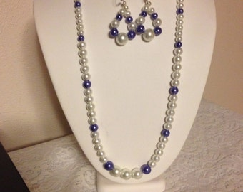 Long Pearl Necklace Set