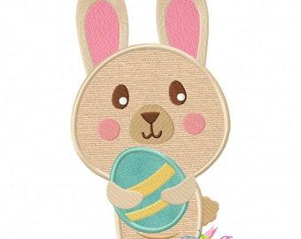 Easter Bunny With Egg-3 Applique Design