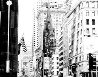 Fine art photography, photography prints, download, printable wall art, black and white, New York City, architecture