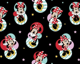 Disney Minnie Mouse Badges Cotton Fabric from Springs Creative