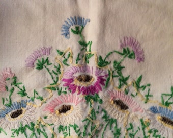 Embroidered Pillowcase Pieces