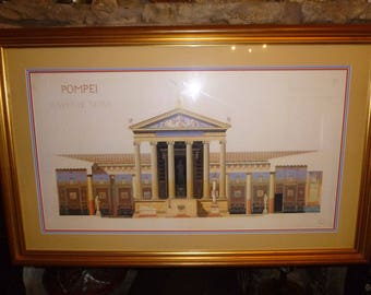 Temple De Venus POMPEII Fine Art Print by François-Wilbrod CHABROL 109 x 70cm