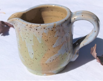 Leaf Imprint Ceramic Pitcher