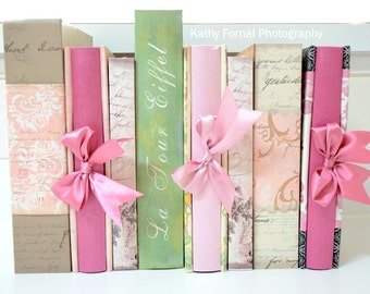 Books Photography, Shabby Chic Books, Paris Books Print, Baby Girl's Room Nursery Decor, Booka Gift Art, Books Photograph, Shabby Chic Decor