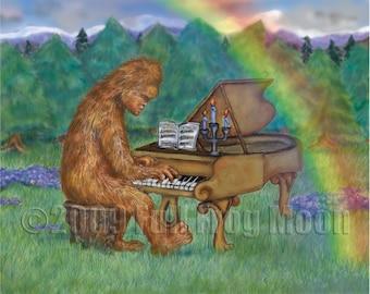 Bigfoot Performs Im Walde Print