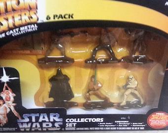 star wars action masters die cast 6 pack mib 1994 Darth Vader Boba fett