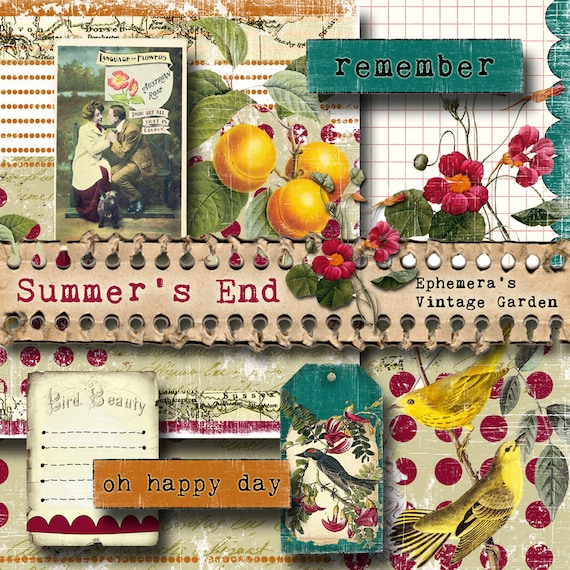Summer's End - Printable Journal Kit