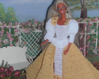 Crochet Fashion Doll Barbie  Pattern- #420 MOONLIGHT MAGIC