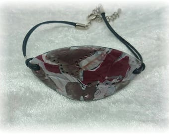 Composition patchwork - Bracelet on leather cord