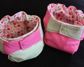 AIO cloth diapers Springtime apples
