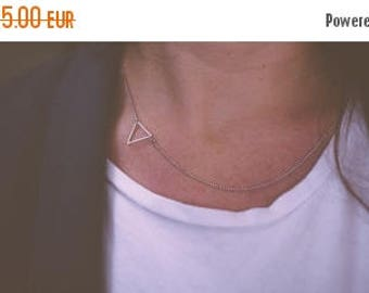 Essa Sale Small triangle necklace | Gold plated & Silver plated