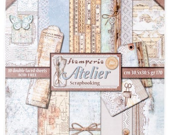 Stamperia-Atelier-12x12 Patterned Papers