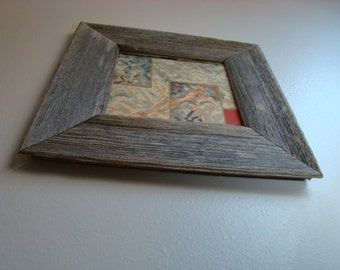 """Barnwood Frame 7"""" x 7"""" Authentic Gray Old Barn Wood Seasoned by Nature! Vintage, Rustic, Primitive, Distressed, Antique, Reclaimed Frames"""