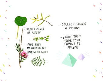 collect nature, sounds & visions - double print set
