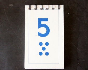 Vintage Flash Card Notebook, Number 5 (50 various pages) - Perfect for To-Do Lists, Shopping Lists, and Big Ideas