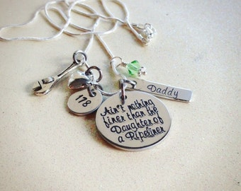 Custom Hand Stamped Pipeline Daughter necklace