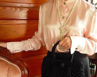 Black Bag, Vintage Handbag, Raffia Knotwork Handbag