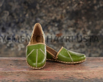 Genuine Leather HandMade Organic Shoes Yellow . All shoes numbers is available for women and men