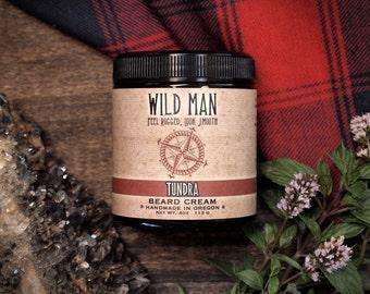 Mens Beard Grooming Cream - Wild Man TUNDRA - Beard Balm 113g // 4oz