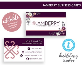 Jamberry Business Cards, Jamberry Independent Consultant, 3.5x2, Easy Edits & Digital Download in Minutes!