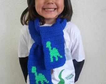 Dinosaur scarf - dino scarf - dinosaur - toddler scarf - child scarf - dinosaur gift - the good dinosaur - dinosaur theme - dinosaur gift