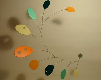 "Modern Hanging Art Sculpture Mobius Mobile by Julie Frith Ceiling Art, Home Decor Medium 20"" x 20"""