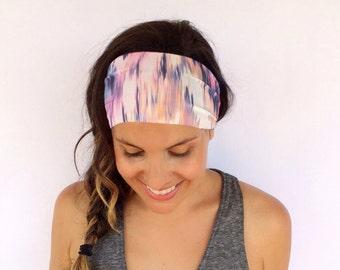 Yoga Headband - Workout Headband - Fitness Headband - Running Headband -  Margeaux Print - Boho Wide Headband