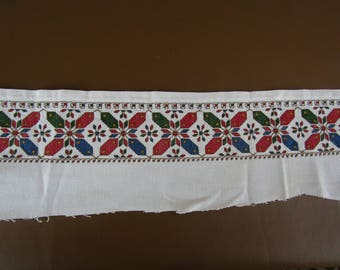 CLEARANCE Salvaged embroidered table cloth border to be repurposed