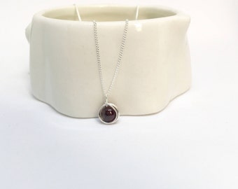 Garnet and silver etsy garnet necklace 925 sterling silver garnet pendant silver garnet necklace silver garnet pendant garnet jewellery january birthstone aloadofball Images