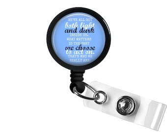 Quote 1 Photo Glass / Bottle ca Retractable ID Badge Reel, Nurse Badge Reel