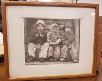 F.J. Vioski drawing of children
