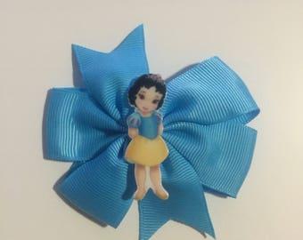 snow white blue hair bow