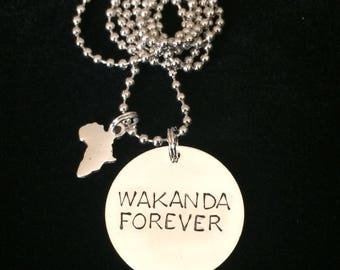 Black Panther Wakanda Forever necklace