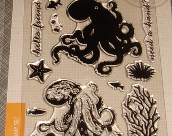 """Hero Arts- Clear Color Layering Stamps - """"Octopus"""""""