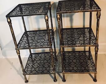 metal mesh funky side tables