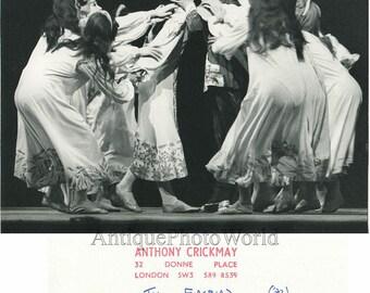 David Wall and Deanne Bergsma kissing Firebird ballet vintage photo A. Crickmay