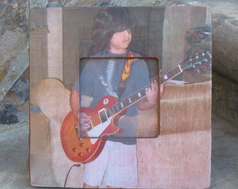 "Personalized Picture Frame, Unique Custom Photo Frame Gift, Unique Photo Gift, Teen Gift, Birthday Gift, 8"" x 8"""