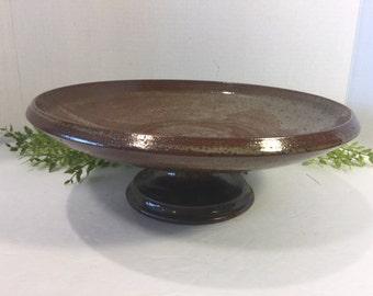 Ironstone Heavy Earthenware Pie Cake Stand Vintage