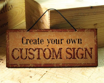Custom Signs in Burnt Orange & Black. Rustic Signs. Business Sign. Rustic Wedding Decor. Kitchen Decor. Restaurant Sign. Personalized Gift