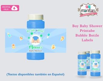 Baby Shower Favors Printable Bubble Bottle Labels - Baby Shower Bubble Bottle Labels - Baby Shower Boy