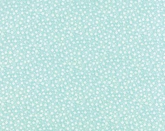 Sew Sew Berrylicious Aqua Floral Apron Strings 33186 15 by Chloes Closet for Moda