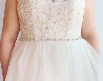 Bridal Belt Bridesmaid Belt Wedding Belt Sash Belt Silver Rhinestone Belt Crystal Rhinestone Belt Wedding Dress Belt